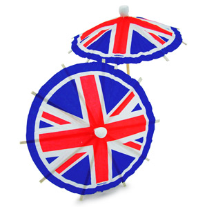 Union Jack Cocktail Umbrella Picks