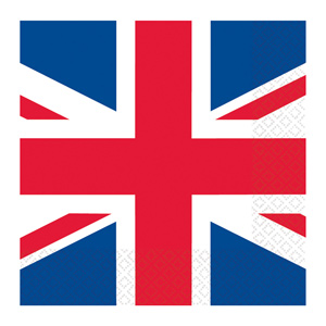 Union Jack Luncheon Napkins