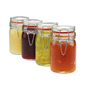 Apollo Clip Seal Glass Storage Jars 10oz / 290ml
