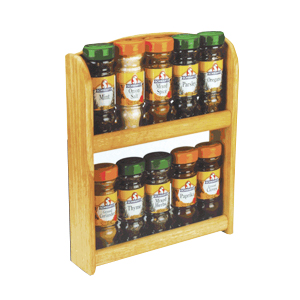 Apollo Wooden Spice Rack with 10 Schwartz Jars