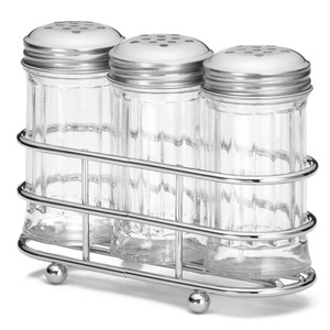 Condiment Dispenser Set with Rack