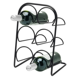 Hahn Pisa 6 Bottle Wine Rack Black