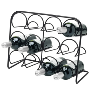 Hahn Pisa 12 Bottle Wine Rack Black
