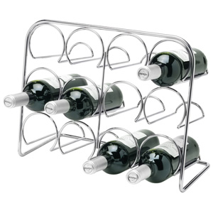 Hahn Pisa 12 Bottle Wine Rack Chrome