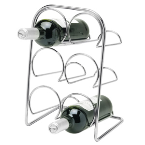 Hahn Pisa 6 Bottle Wine Rack Chrome