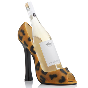 Leopard Shoe Wine Bottle Holder