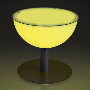 Illuminated Low Poseur Table 57cm