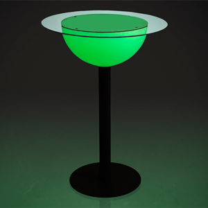 Illuminated Tall Poseur Table 70cm