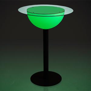 Illuminated Tall Poseur Table 70cm