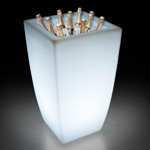 Illuminated Tall Ice Bucket Wired