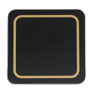 Carrick Melamine Coaster Black 10cm