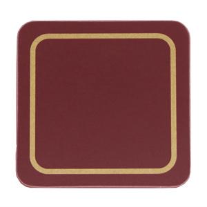 Carrick Melamine Coaster Burgundy 10cm
