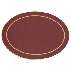 Carrick Melamine Oval Placemat Burgundy 21.5cm x 29.5cm