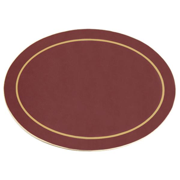 Carrick Melamine Oval Placemat Burgundy 21 5cm X 29 5cm