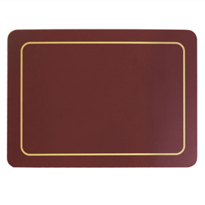 Carrick Melamine Placemat Burgundy 21.5cm x 29cm