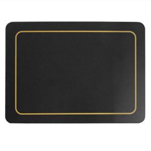 Carrick Melamine Placemat Black 21.5cm x 29cm