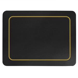 Carrick Melamine Placemat Black 19cm x 24cm
