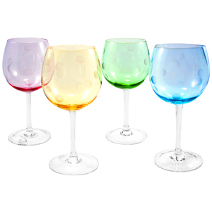 Polka Dot Wine Glasses 22.9oz / 650ml