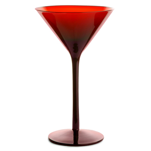Midnight Martini Glasses Red 8.8oz / 250ml