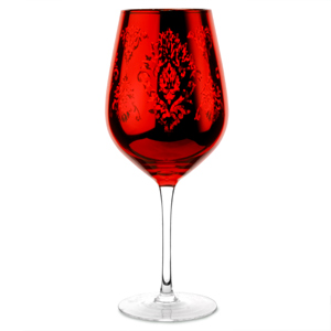 Brocade Wine Goblets Red 28.2oz / 800ml