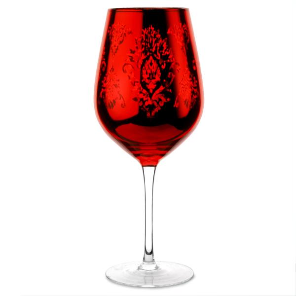 Brocade Wine Goblets Red 800ml Drinkstuff