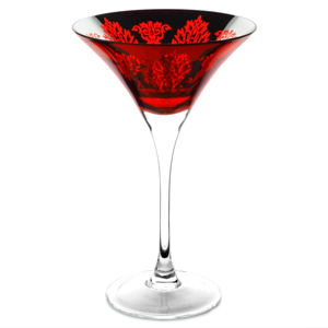 Brocade Martini Glasses Red 10.6oz / 300ml
