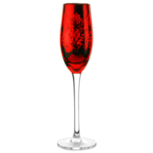 Brocade Champagne Flutes Red 7oz / 200ml