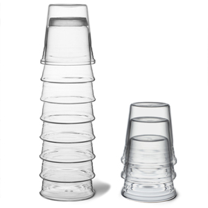PO Aquatower Carafe with 4 Glasses (35.2oz / 1ltr)