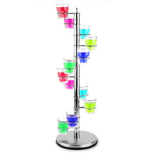 Spiral Shot Glass Holder with Glasses