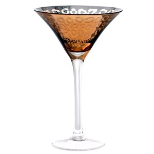 Leopard Martini Glasses Gold 8.3oz / 235ml