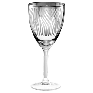 Zebra Wine Glasses Silver 14.6oz / 410ml