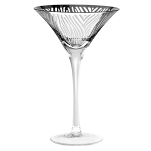 Zebra Martini Glasses Silver 8.3oz / 235ml