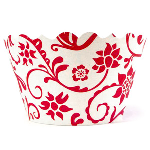 Swift Hannah Cupcake Wrappers Red & White