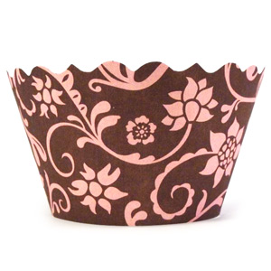 Swift Hannah Cupcake Wrappers Pink & Brown