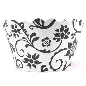 Swift Hannah Cupcake Wrappers Black & White