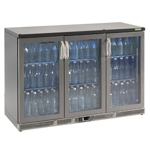 Gamko Maxiglass Noverta MG-315GCS Glass Hinged Door Bottle Cooler