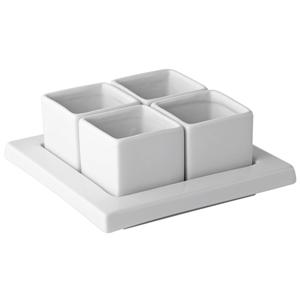 "Utopia Titan Gourmet Square Tray & Square Bowls 6""/ 3.25oz"