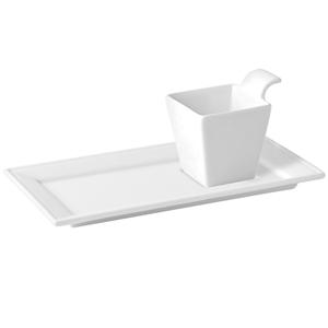 Utopia Anton Black Madison Plate with Indent & Handled Dish