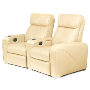 Premiere Home Cinema Seating - 2 Seater Cream