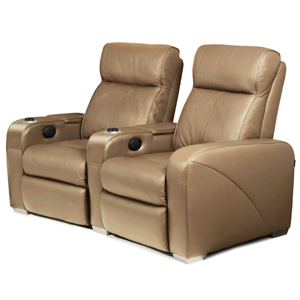 Premiere Home Cinema Seating - 2 Seater Taupe