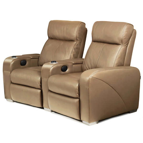 premiere home cinema seating 2 seater taupe cinema seating