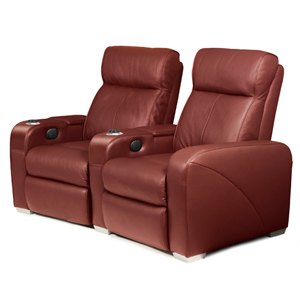 Premiere Home Cinema Seating - 2 Seater Burgundy