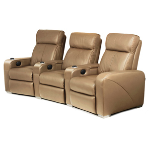 Premiere Home Cinema Seating - 3 Seater Taupe
