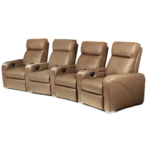 Premiere Home Cinema Seating - 4 Seater Taupe