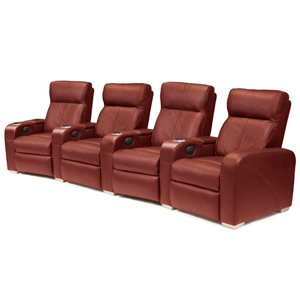 Premiere Home Cinema Seating - 4 Seater Burgundy