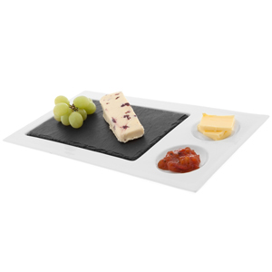 Just Slate Rectangular Ceramic Platter