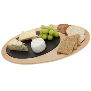 Just Slate Wooden Oval Serving Platter