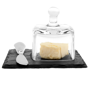 Just Slate Mini Butter Cloche with Knife