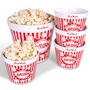 Ceramic Popcorn Bowl Set