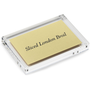 Rectangular Magnetic Menu Card & Sign Holder 4 x 6inch